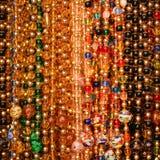 Perle le fond Bijoux de verre de Murano Photographie stock