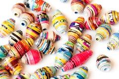 Perle multicolori della carta fatta a mano Immagini Stock