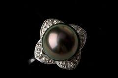 Perle noire Photographie stock libre de droits