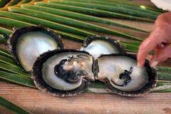 Perle noire (bijou) Photo stock