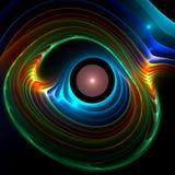 Perle rose dans l'interpréteur de commandes interactif d'ormeau Images stock