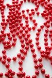 Perle rosse di natale Fotografia Stock