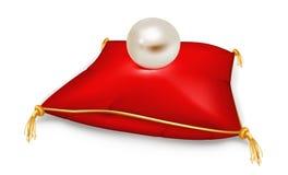 Perle sur l'oreiller Photo stock