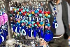 Perle turque d'oeil mauvais comme souvenir d'amulette images stock