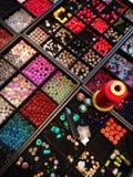 Perlen für Handwerk Stockfotografie