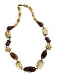 Perlen gemacht vom Holz und vom Elfenbein lizenzfreie stockfotos