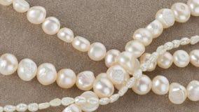 Perlen gemacht von den Frischwasserperlen Lizenzfreies Stockbild