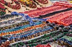Perlen gemacht von den Natursteinen Lizenzfreie Stockfotos
