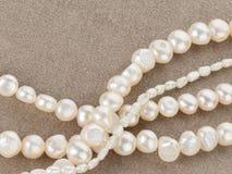 Perlen gemacht von den schönen Perlen Stockbilder