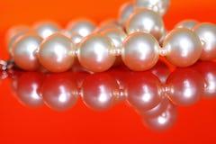 Perlen-Halskette A Lizenzfreies Stockbild