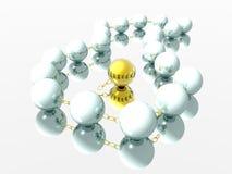 Perlen-Halskette und Gold Stockfotos
