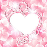 Perlen-Herz-Rahmen Stockfotos