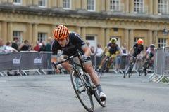 Perlen-Izumi Tour Series Bicycle Race-Schluss im Bad England Lizenzfreie Stockfotografie