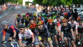 Perlen-Izumi Tour Series Bicycle Race-Schluss im Bad England Stockbilder