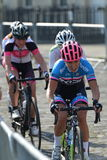 Perlen-Izumi Tour Series Bicycle Race-Schluss im Bad England Lizenzfreies Stockfoto