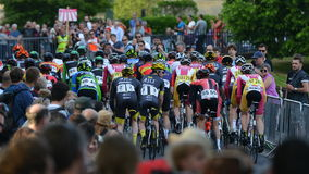 Perlen-Izumi Tour Series Bicycle Race-Schluss im Bad England Stockbilder