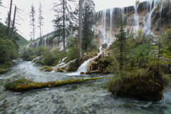 Perlen-Masse fällt in Jiuzhaigou, China, Asien Stockbild