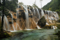 Perlen-Masse fällt in Jiuzhaigou, China, Asien Stockfotografie