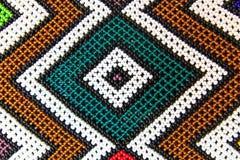 Perlen-Muster des amerikanischen Ureinwohners Stockfoto