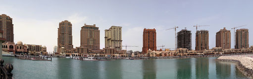 Perlen-Qatar-Luxuxkomplex Lizenzfreie Stockbilder