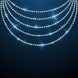 Perlen-Schmuckhintergrund des Diamanten funkelnder Lizenzfreies Stockbild