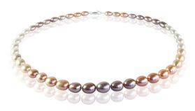Perlen von farbigen Perlen Stockfotografie