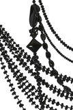 Perlen wird von einem Steinachat gemacht Lizenzfreies Stockbild
