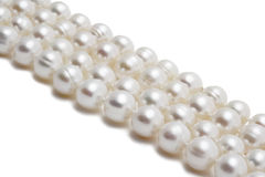 Perlenhalskettennahaufnahme Lizenzfreies Stockbild