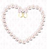 Perleninnervektorabbildungshintergrund Stockfoto
