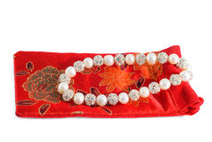 Perlenkorne mit Kristallkugeln Lizenzfreies Stockfoto