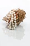 Perlenperlen in der Wanne Stockfotografie