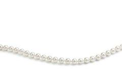 Perles blanches Photographie stock libre de droits