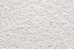 Perles blanches de sagou Photos stock