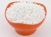Perles blanches de sagou Images stock