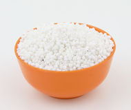 Perles blanches de sagou Images libres de droits