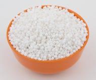 Perles blanches de sagou Photos libres de droits