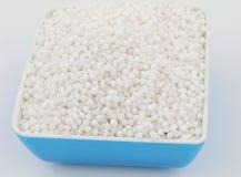Perles blanches de sagou Photo libre de droits