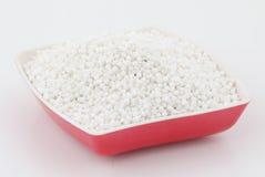 Perles blanches de sagou Image stock