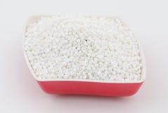 Perles blanches de sagou Photo stock