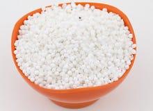Perles blanches de sagou Image libre de droits
