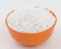 Perles blanches de sagou Photographie stock libre de droits