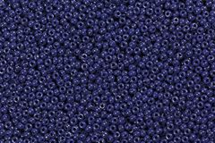 Perles bleu-foncé Photographie stock