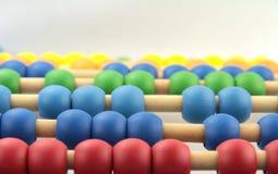 Perles colorées d'abaque, macro image photo stock