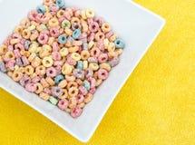 Perles colorées de céréale Photo stock