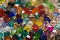 Perles colorées macro Photos stock