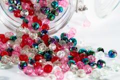 Perles colorées Photos stock