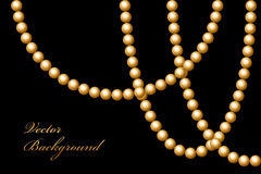 Perles d'or Photo stock