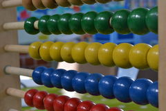 Perles d'abaque, jouet en bois Photographie stock