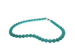 Perles d'une turquoise en pierre Image stock