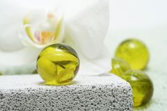 Perles de Bath Image libre de droits